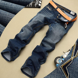 2016 New Mens Jeans Famous Brand Washed Ripped Jeans For Men Fashion Men Jeans Classic Brand Men's Jeans Denim Pants