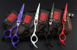 Wholesale 6 Inch Hairdressing Scissors Two Tone Baking Finishing Japan Stainless Steel Professional Cutting Thinning Shears