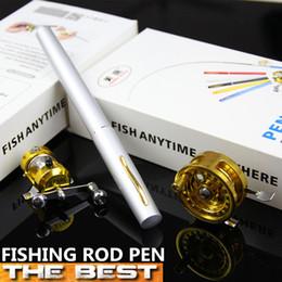 Wholesale Fashion New The Best m Mini Telescopic Carbon Fishing Rod With Two Fishing reel Pen Fishing Rod Set ComboRod Reels Combos