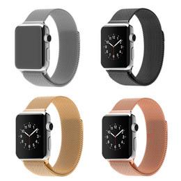 Wholesale Watchband for Apple Watch Link Bracelet strap Original Design Magnetic Milanese loop watchband Woven mesh Gold bracelet strap for iWatch