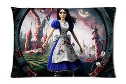 Wholesale Alice Madness Return Fashion Beautiful Style Cotton Decorative Suitbale Single Pillow Case Standard Size x cm Twin Sides