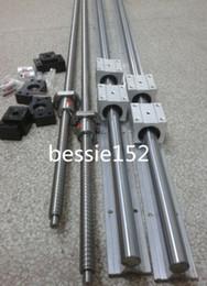 Wholesale 6 SBR16 mm linear rail guide sets ballscrew RM1204 mm sets BK BF10 bearing couplers mm CNC set