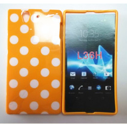 Wholesale Hot Point Colorful Polka Dots Soft TPU Phone Cover Case For Sony Xperia Z L36h C6603 C6602 Back Skin Cover Phone Case Free