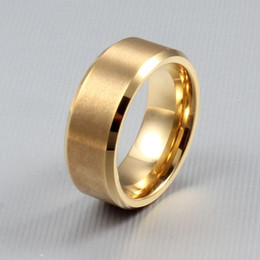 Wholesale New Top Quality Tungsten ring gold black silver men ring classic wedding party dress jewelry