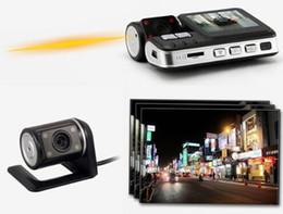 Wholesale Full HD P Dual Lens Car DVR Dual Camera Car Video Recorder Blackbox Dash Cam Night Vision View Dual Lens Camcorder i1000