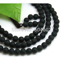 Wholesale mm Tibet Buddhism Black Amber Beads Mala Necklace