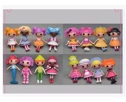 Retail High quality Lalaloopsy 16 pcs lot Figurines 8 cm MGA MINI Lalaloopsy Juguetes PVC Action Figure toys doll Gift Kid toy