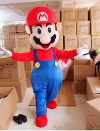 Wholesale Super Mario Costume Make - 2015 high quality Super Mario Mascot Cartoon Mascot Costume Fancy Dress