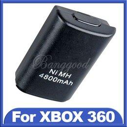Descuento controladores de xbox para la venta 2015 Venta Caliente Nuevo Negro 4800mAh Ni-MH Batería Recargable USB Para Xbox 360 Controlador Inalámbrico de la Consola de Precios al por mayor pedido de$18no pista
