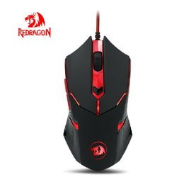 Wholesale Redragon M601 CENTROPHORUS DPI Gaming Mouse for PC Buttons Weight Tuning Set Omron Micro Switches