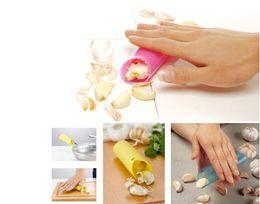 Wholesale Magic Silicone Garlic Peeler Peel Easy Useful Kitchen Tools Garlic Skin Remover