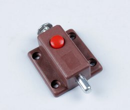 Wholesale Plastic furniture double closet door latch spring spring small window latch door latch switch red button