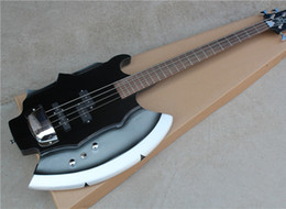 Wholesale 4 String SIMMONS Electric Bass with Axe Shape Body Open Pickups and Can be Customized as Request