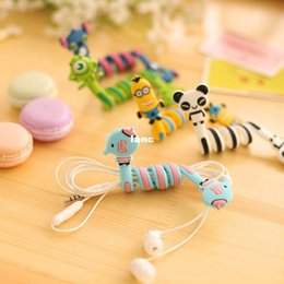 animales con cable Rebajas Kawaii Cartoon Animal Long Cable Winder Auriculares Auriculares Organizer Wire Holder