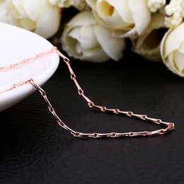 Best Quality 1.5MM 18K Rose Gold Jewelry Rose Gold Chains Necklace 18inch