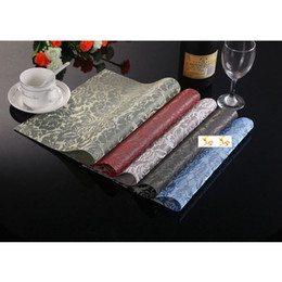 Wholesale Color Rose PVC Table Cloth Placemats Romantic Art Decor Insulation Dining Mats Coasters Wedding Ornaments SD738