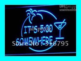 Wholesale i090 b ITS SOMEWHERE MARGARITA NEON Bar Light Sign