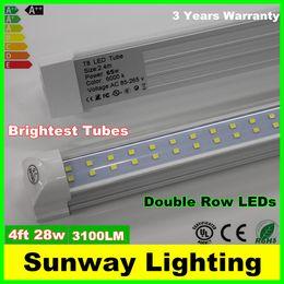 Wholesale Double row LED T8 Tube FT W LM SMD integrated LEDS Light Lamp Bulb feet m led lighting fluorescent