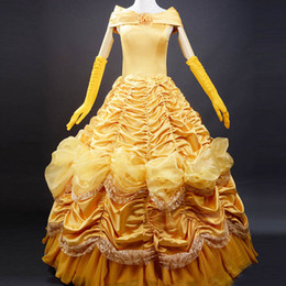 Wholesale Beauty and the Beast costume women adult princess Belle costume cosplay halloween costumes for women Fancy dress fantasy custom