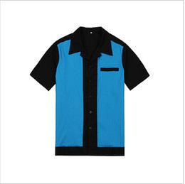 Mens Rockabilly Bowling Shirts 50s 60s Style Punk Metal Party Clubwear Clothing