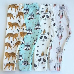 Wholesale 2016 kids Leggings Pants boys girls clothes baby clothing trousers harem Tights leggings toddler capris Panda brand Striped pants