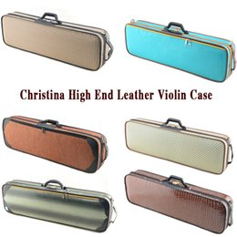 Wholesale New High grade Christina violin case with a hygrometer waterproof case violino wood leather violin case
