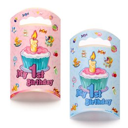 Mix 2 style 2015 My first Birthday Party Candy Bag Cartoon Gift wrapping Bag Tote Bag Paper Gift Bag Handbag PA01