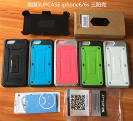 Wholesale for iphone s Plus Supcase Unicorn Beetle PRO Series Full body Rugged Holster Cases for Samsung Galaxy S6 S6 Edge With Swiveling Belt Clip