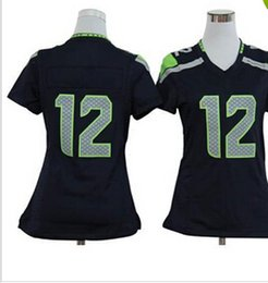 Wholesale 2014 New Style Womens Football Jerseys Fan Navy Blue Game American Football Jerseys Cheap Top QUality Football Kits All Teams Mix Order