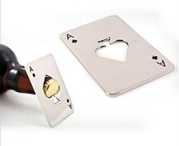 Wholesale New Arrival Hot Sale Stainless Steel Poker Playing Card of Spades Bar Tool Soda Beer Bottle Cap Opener Gift