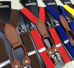 Wholesale Hot Candy Color Kids Boys Girls Elastic Suspender Belt Children Fashion Y Shape Shoulder Adjustable Strap Clip Pants Folder BJ L002