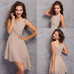 Top Selling A Line Spaghetti Straps Asymmetrical Skirt Homecoming Dresses Short Chiffon Cheap Short Prom Cocktail Dresses