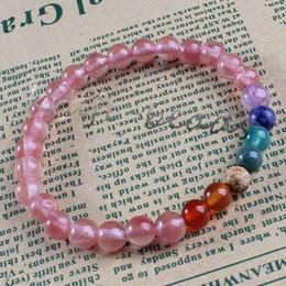Wholesale 10Pcs Charm Natural Different Rose Quartz Agate Stone Round Shape Beads Stone Chakra Healing Point Beaded Bracelets Jewelry 6mm