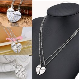 Amour collier en Ligne-500set LJJH1219 meilleur cadeau pour Collier chaîne maman / maman 2PC / Set Amour Heart Mother Daughter Pendnet