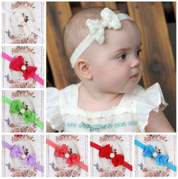 Children headdress wholesale children's hair accessories rose flower with pearl diamond bow headband