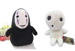 "2pcs 5"" Princess Mononoke Kodama + Spirited Away Faceless No Face Stuffed Plush Soft Toys Dolls"