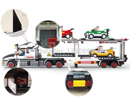 Wholesale Sluban Auto Transport Truck Building Blocks Transport aircraft vehicle Bricks Toys Gift