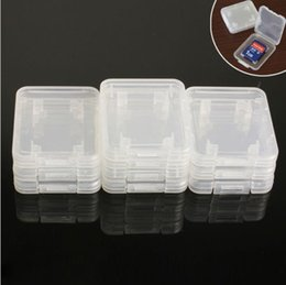 Wholesale HOT SELL Best Transparent Packing Box FOR Standard SD SDHC SDXC Memory Card Case Holder Box Storage BY DHL