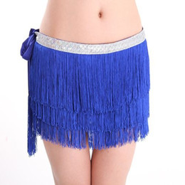 2015 Three-layers Encrypted Tassel Belly Dance Costume Hip Scarf Skirt Waist Chain Towel Indian Belly Dancing Performing Belt 6 Colors