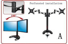 Dual Monitor Stand Desktop Computer Monitor Desktop Stand Bracket 14-27 inch LCD Monitor Stand Rotatable Adjustable Monitor Holder Mounting