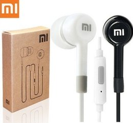 Wholesale-New Hot Sales Best Quality Mi Earphone Headphone Headset for iphone  Mini Ipad PSP MP3 MP4 With Remote And MIC Free ship