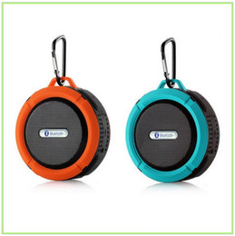 HOT sale C6 IPX7 Waterproof Wireless Bluetooth Portable Shower Speaker & Car Handfree speaker phone Colorful for mobile phone MP3 DHL free