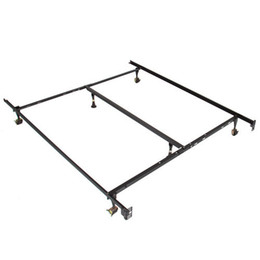Wholesale Metal Bed Frame Adjustable Full Twin Size W Center Support Platform
