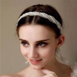 Wholesale Crown Gold Jewellery - Upscale Korean-style Shiny White Crystal Diamond Bridal Wedding Dresses Head Accessories Tiara Hair Headpiece Headband Jewellery Retail