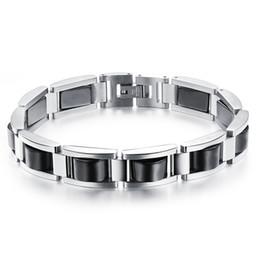 Men bracelet with small magnetic health Hematite Tianium steel bracelet N751