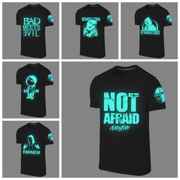 Wholesale- Summer men tshirts camisetas fashion eminem t shirt tee tops fluorescent shirt design casual Hip hop t-shirt