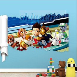 Wholesale Patrol Dog Wall Stickers PVC Mural DIY Backdrop Bedroom Living Room Poster Wallpapers TV Paw Wall Stickers Home wall Nursery Decor A482