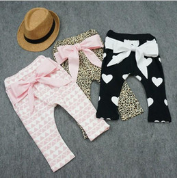 Baby Pants For Girls Christmas Harem Pants 2015 Autumn Winter Girls Printed Geometrical Pattern Leopard Heart Bow Baby PP Pants BY0000