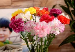 Wholesale 40pcs lot Real Touch Carnation silk flower artificial flowers Crafts for Home wedding Decoration free shipping
