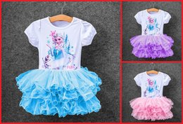 Wholesale Frozen girls summer dresses cheap dresses Puff child years baby fashion party dresses factory direct